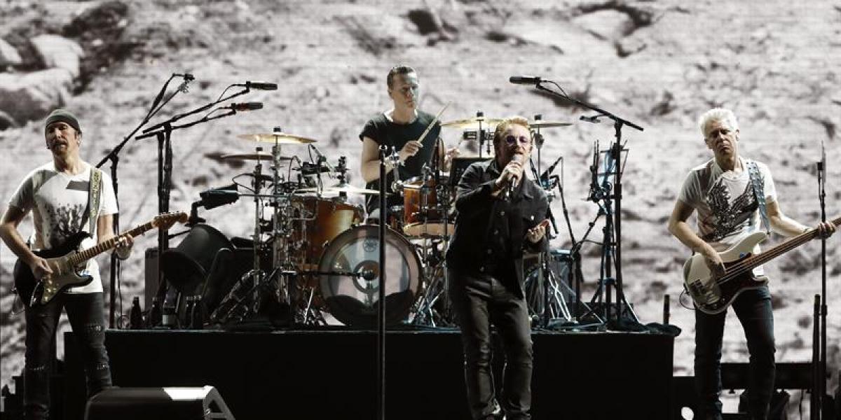 U2 en el concierto de Barcelona