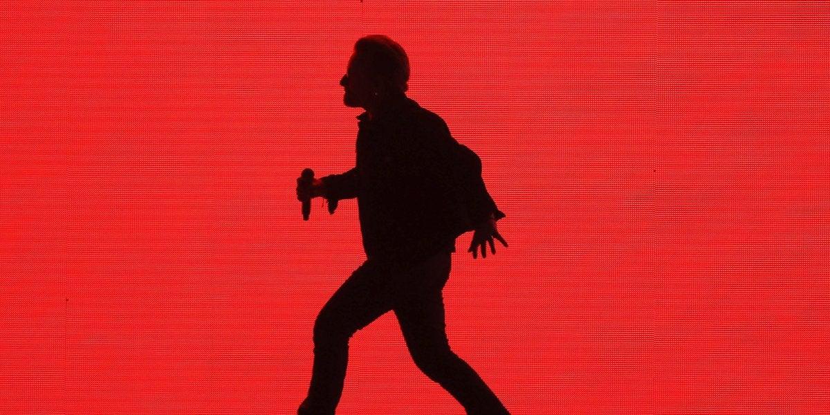 Bono en el concierto de U2 en Barcelona