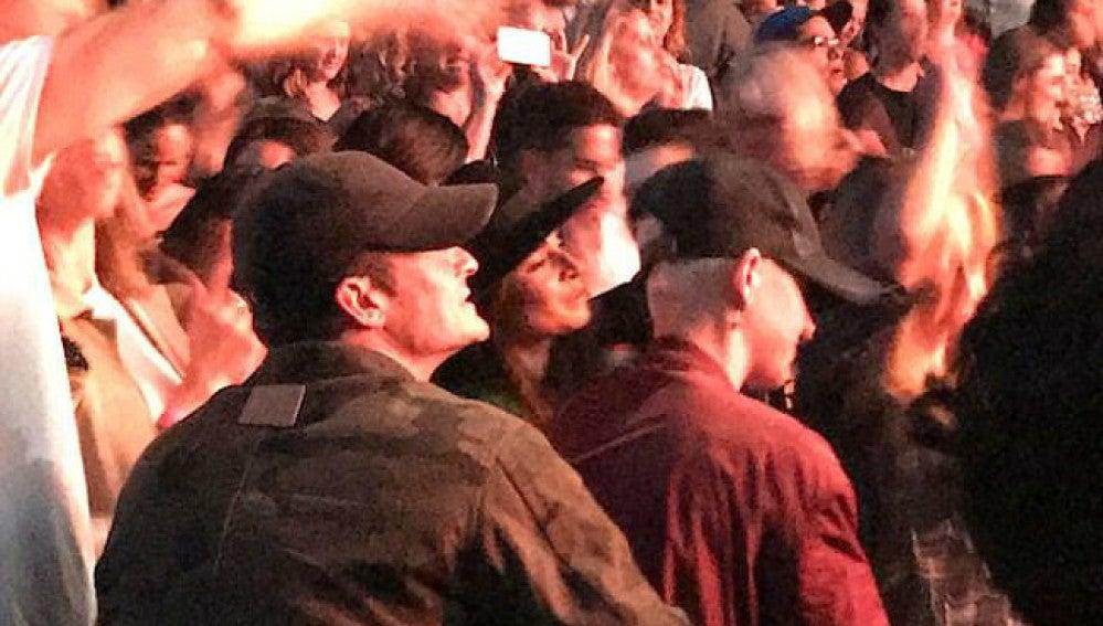 Orlando Bloom y Katy Perry en el concierto de Ed Sheeran en Los Ángeles