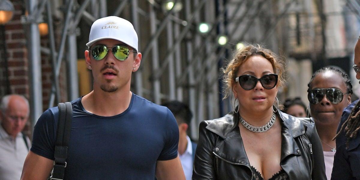 Mariah Carey pasea junto a su novio