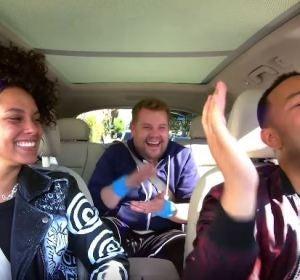 Alicia Keys y John Legend cantan una canción dedicada a la erección en el Carpool Karaoke