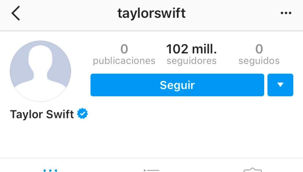 Taylor Swift ha borrado sus fotos de Instagram
