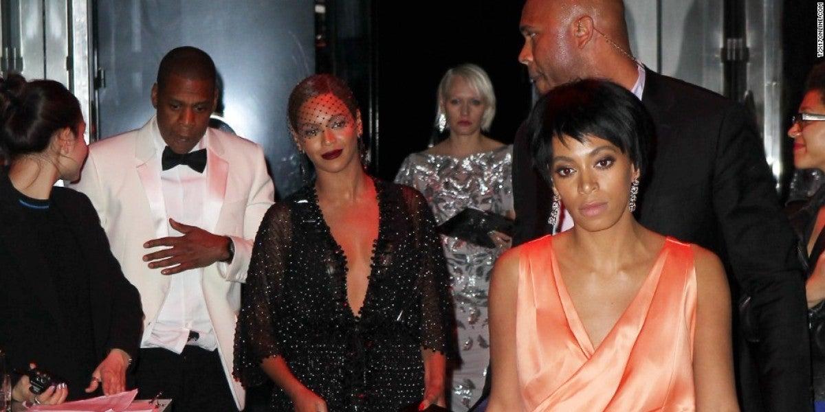 Beyoncé, Jay Z y Solange tras la fiesta de la gala MET