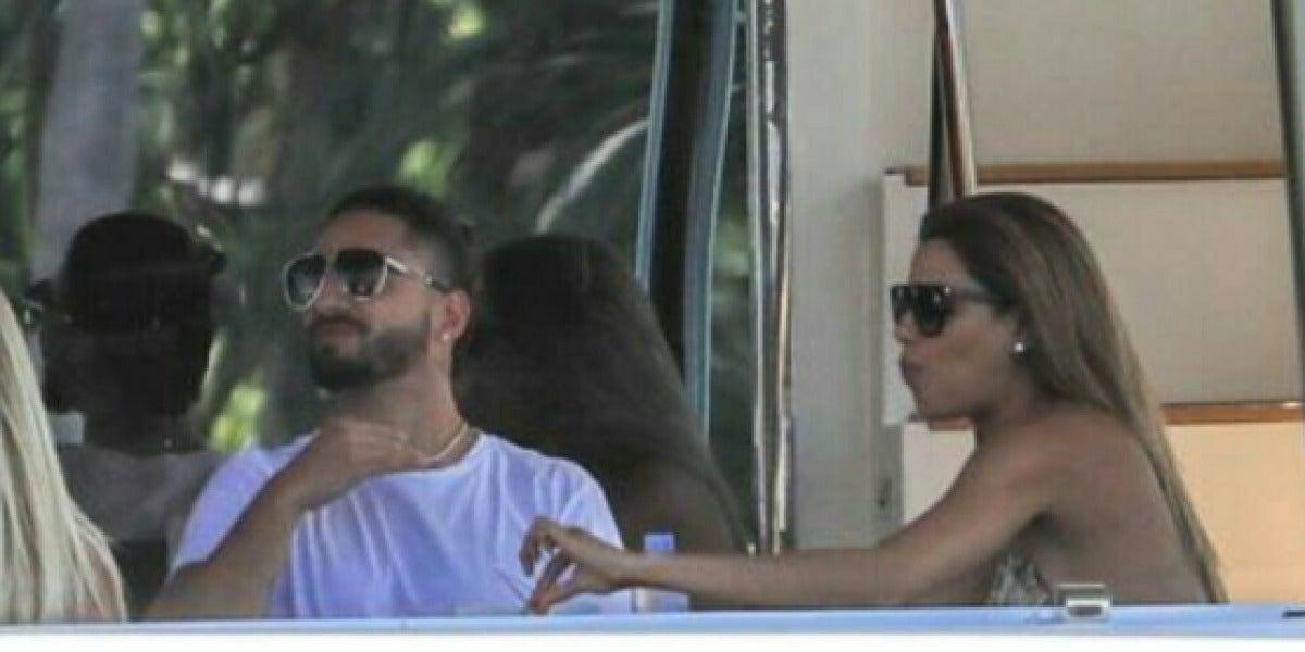 Maluma pillado en un yate en Miami junto a Ariadna Gutiérrez