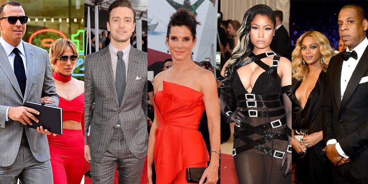 JLo y Alex Rodriguez, Justin Timberlake, Sandra Bullock, Nicki Minaj o Beyoncé y Jay Z son algunos de los artistas que han donado dinero