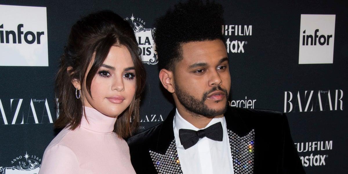 Selena Gomez y The Weeknd en la fiesta de Harper's Bazaar