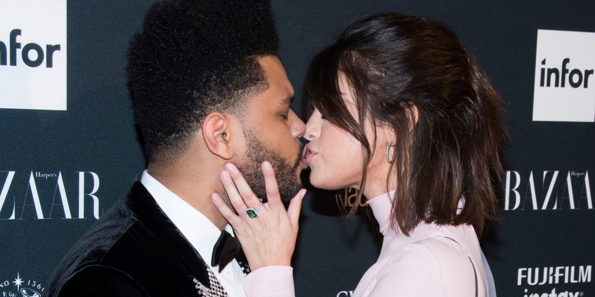 El primer beso público de Selena Gomez y The Weeknd