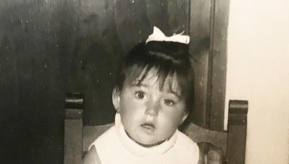 Rossy de Palma de pequeña en el día de su cumpleaños
