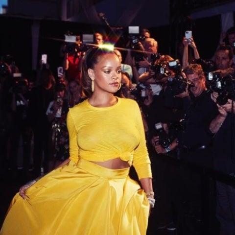 Rihanna en la presentación de Fenty Beauty