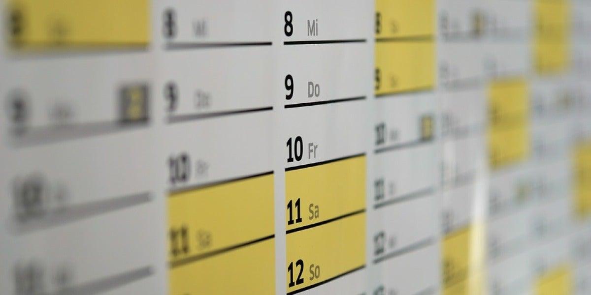 Días del calendario