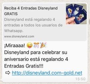 La policía advierte del timo de las entradas de Disneyland