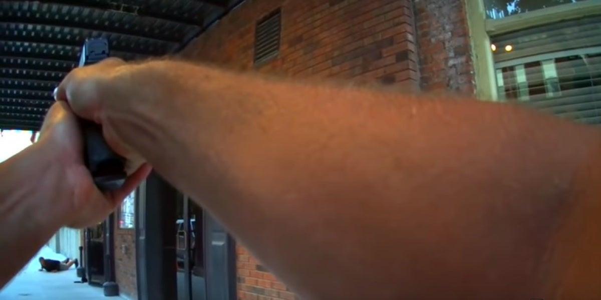 Un policía confunde el rodaje de una película con un atraco y casi dispara al actor
