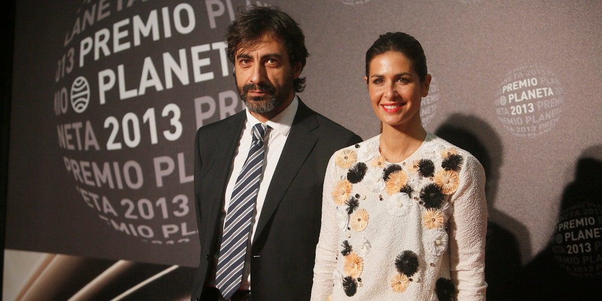 Nuria Roca, junto a su marido Juan del Val, en el Premio Planeta 2013