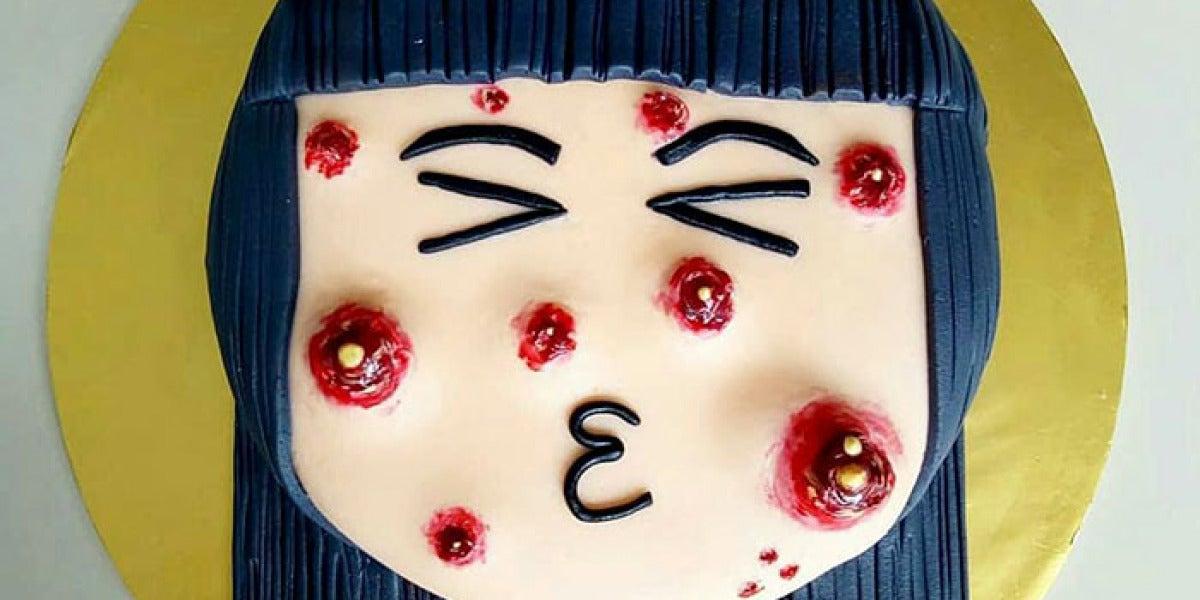 """La tarta """"con espinillas"""" de The Cakescape"""