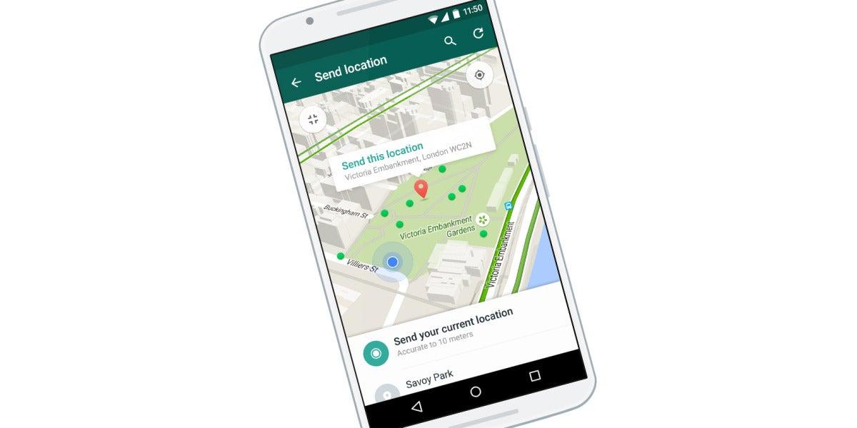 Localización de Whatsapp