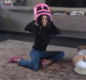 Selena Gomez y Marshmello en el rodaje de Wolves