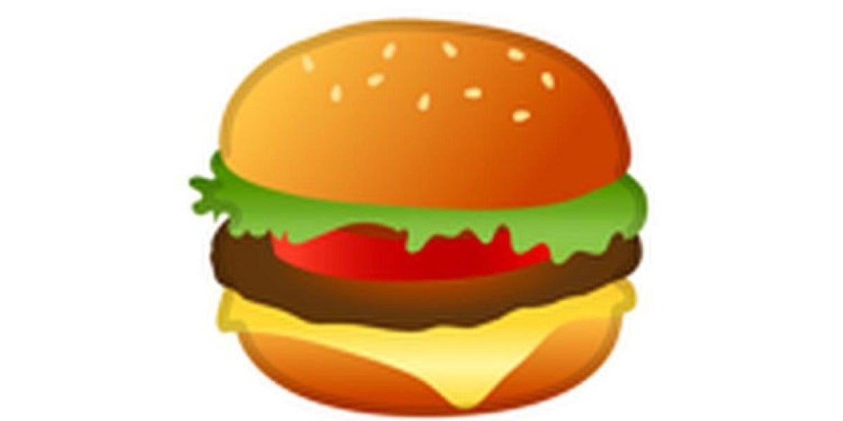 Emoji de la hamburguesa de Google