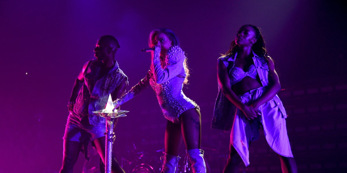 Lady Gaga durante su 'Joanne World Tour' en Montreal