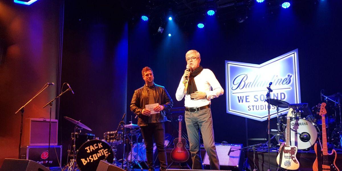 Tony Loarces y Patricio Sánchez en la presentación de Ballantine's We Sound