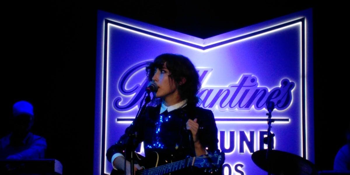 Anni B Sweet en la fiesta de presentación de Balantine's We Sound
