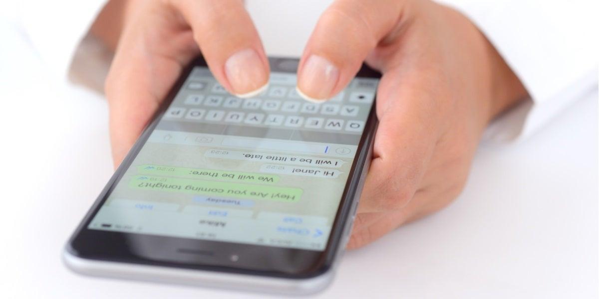 Aplicación de smartphones Whatsapp