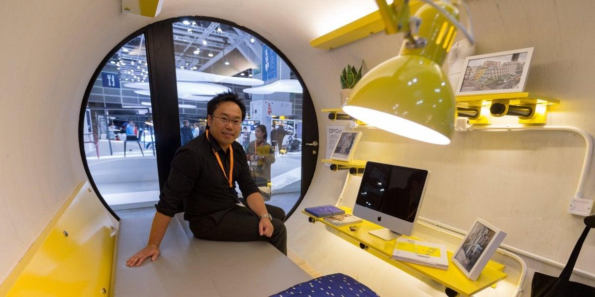 Modelo de una 'casa-tubería' en Hong Kong