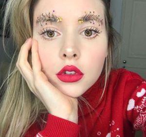 Las cejas decoradas como un árbol de Navidad