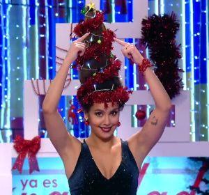Cristina Pedroche y su peinado de árbol de Navidad