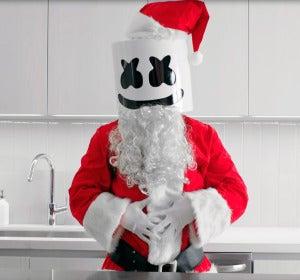 Marshmello enseñando una receta de cocina