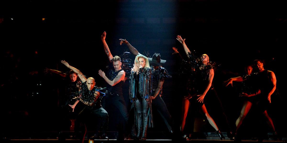 Lady Gaga durante su concierto en Montreal (Canadá)