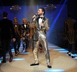 Maluma en el desfile de Dolce & Gabbana