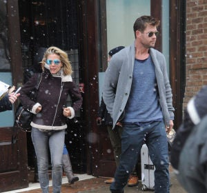 Elsa Pataky y Chris Hemsworth hacen frente al tiempo en Nueva York
