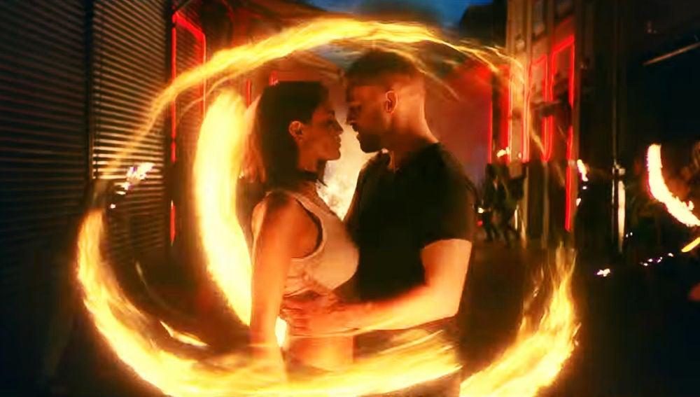 Justin Timberlake y Eiza Gonzalez en el vídeo de 'Supplies'