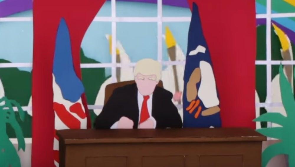 Donald Trump en el videoclip de 'Get out of your own way' de U2