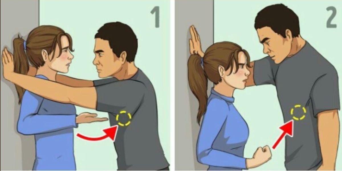 Consejos ilustrados para defenderse de una agresión sexual