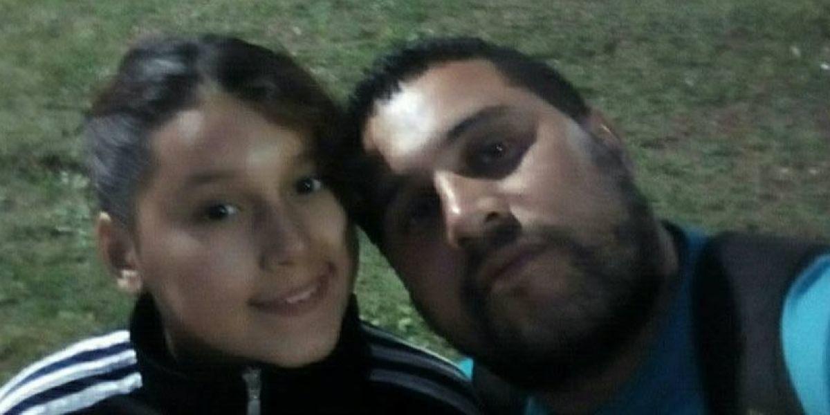 Walter Martín Rodríguez con su hija
