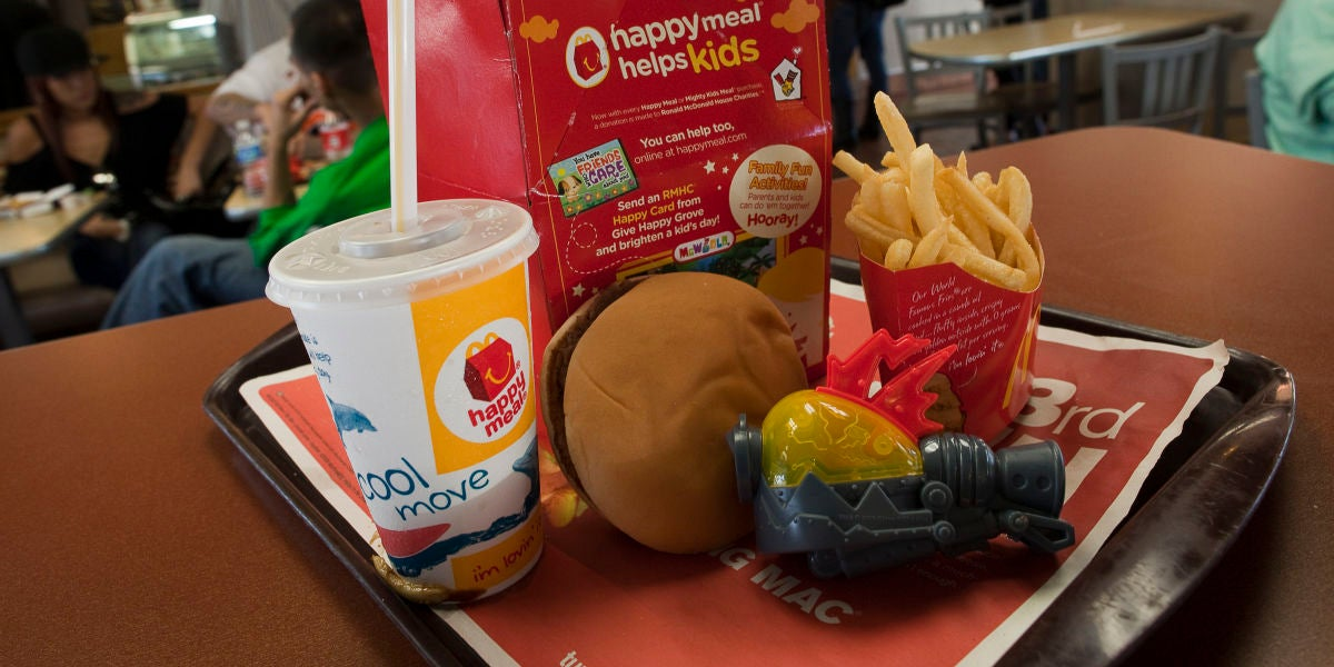 Un menú Happy Meal