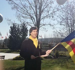 Joaquín Reyes caracterizado de Carles Puigdemont