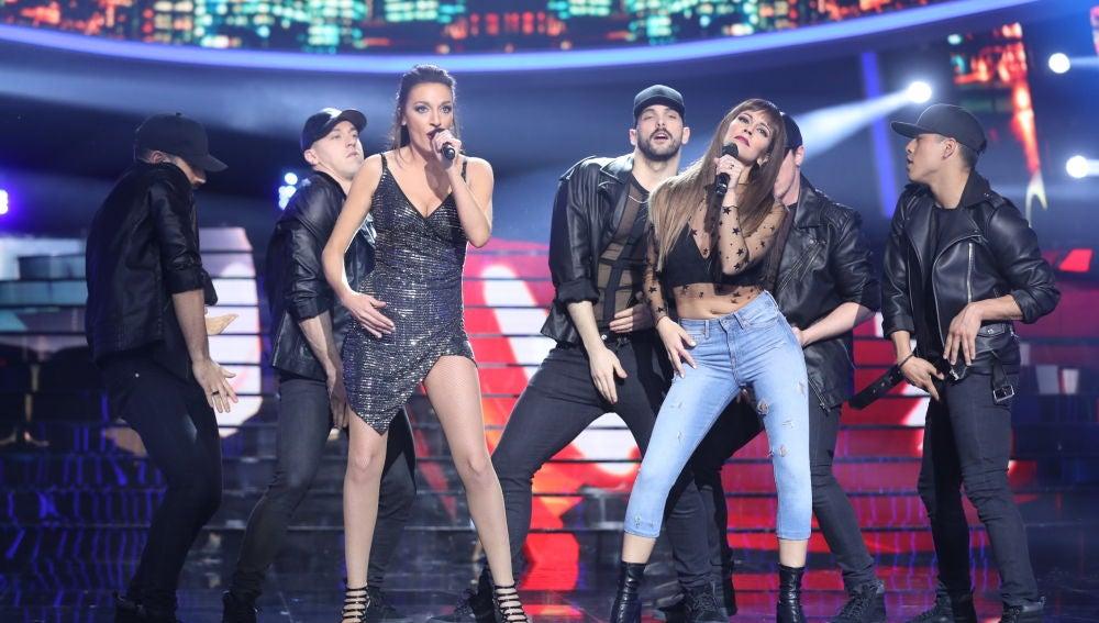 La rompedora actuación de Anna Simon y Cristina Pedroche con 'Lo malo' de Ana Guerra y Aitana en 'Tu cara me suena'