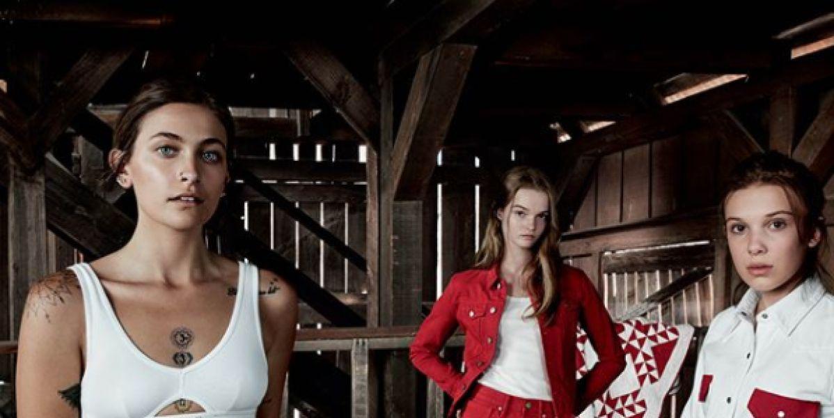 Millie Bobby Brown, Paris Jackson y Lulu Tenney para la campaña la nueva campaña Our Moment #MyCalvins