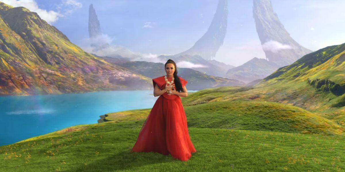 Demi Lovato en el vídeo de 'I Believe'