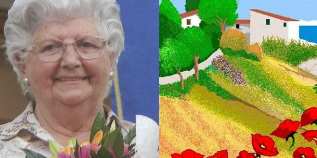 Concha, la valenciana de 87 años que está arrasando con los espectaculares dibujos que hace con Paint