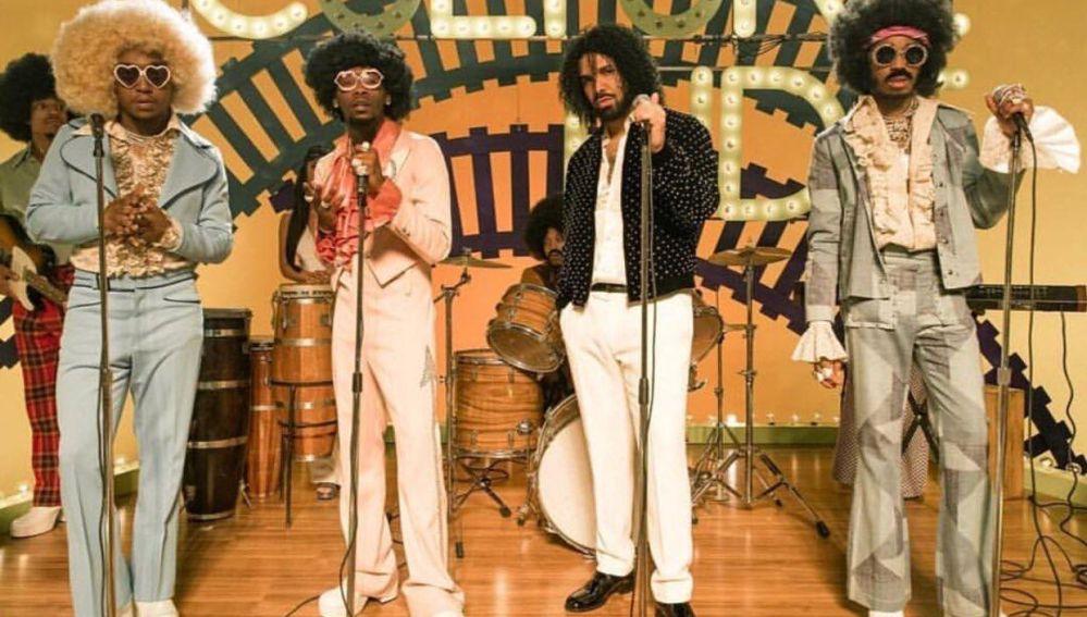 Migos y Drake en el vídeo de 'Walk It Talk It'