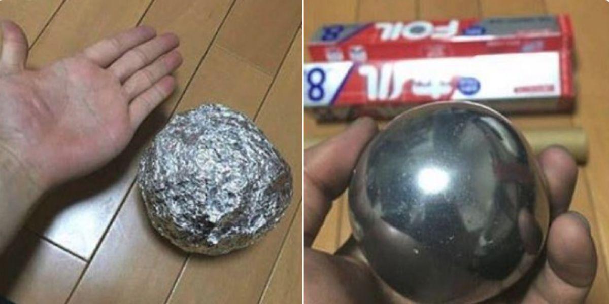 La broma de la bola de metal