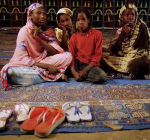 Un grupo de niñas de Mauritania