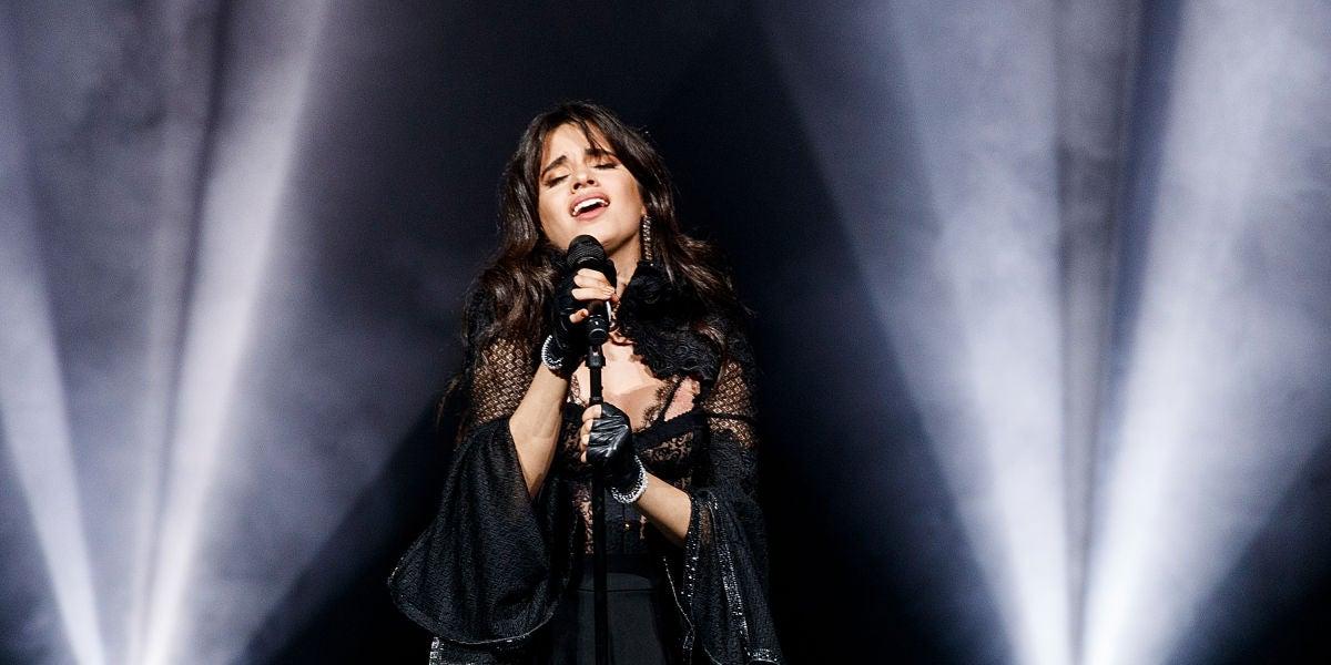 Camila Cabello durante su concierto en el Orpheum Theatre de Vancouver (Canadá)