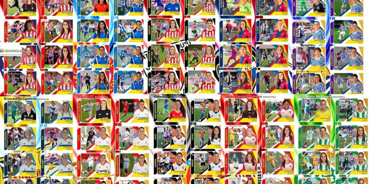 Colección de cromos casera de la Liga Iberdrola