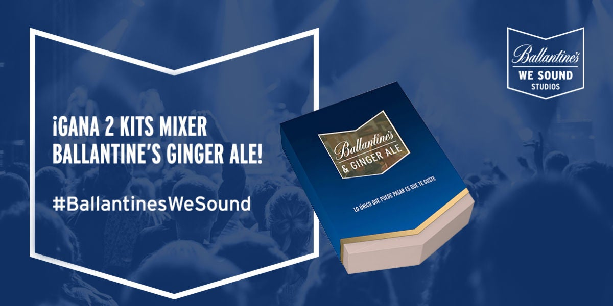 ¡Gana kits mixer Ballantine's Ginger Ale!