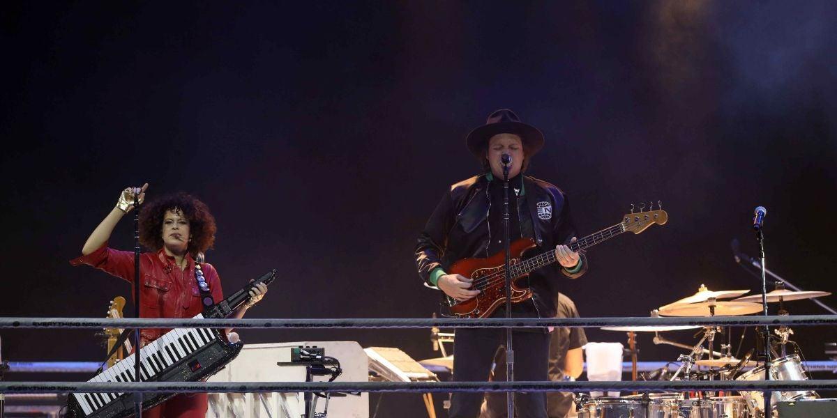 Arcade Fire durante su concierto en Barcelona presentando 'Everything Now'