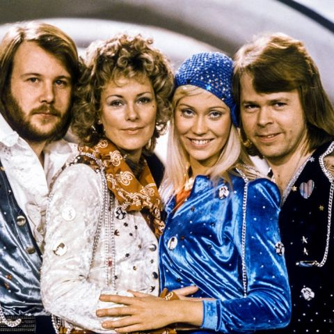 Fotografía de archivo fechada en febrero de 1974 del grupo sueco de música ABBA